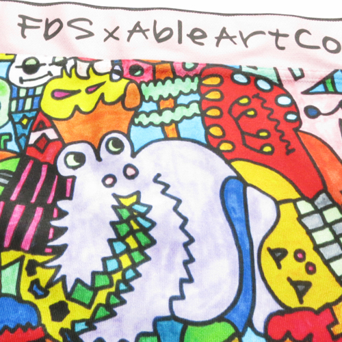 [50%OFF]FDS/FDS×ABLEART COMPANYコラボ アート柄成型ボクサーパンツ